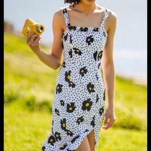 🌜 {UO} Linen Midi Dress 🌛